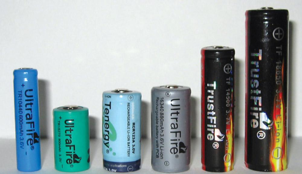Аккумуляторы для фонаря
